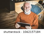 portrait of senior businessman . | Shutterstock . vector #1062157184