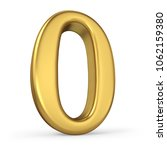 gold number 0 isolated on white ... | Shutterstock . vector #1062159380