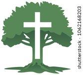 cross and tree christian... | Shutterstock .eps vector #1062168203