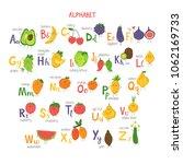 alphabet with cute cartoon...   Shutterstock .eps vector #1062169733