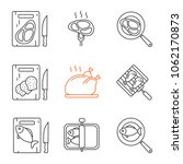 food preparation linear icons... | Shutterstock .eps vector #1062170873