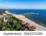 sopot resort in poland. wooden... | Shutterstock . vector #1062171230