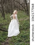 beautiful bride walking in... | Shutterstock . vector #1062177068