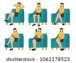 set of full length casual woman ... | Shutterstock .eps vector #1062178523