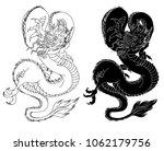 hand drawn zentangle style... | Shutterstock .eps vector #1062179756