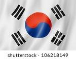 South Korea Flag  Three...