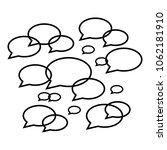 set of speech bubbles   Shutterstock .eps vector #1062181910