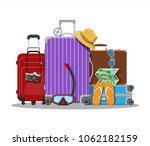 modern and vintage travel bag.... | Shutterstock .eps vector #1062182159