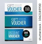 gift voucher design template.... | Shutterstock .eps vector #1062185930