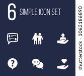 set of 6 backing icons set.... | Shutterstock .eps vector #1062186890