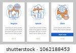 digital data storage onboarding ...   Shutterstock .eps vector #1062188453