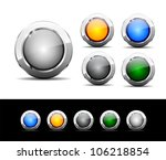 set of buttons for web. vector...