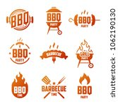 set of grill and barbecue... | Shutterstock .eps vector #1062190130