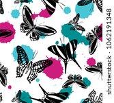 fun seamless butterfly kite... | Shutterstock .eps vector #1062191348