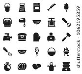 flat vector icon set   camping... | Shutterstock .eps vector #1062195359