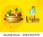 happy vishu greeting card... | Shutterstock .eps vector #1062201470