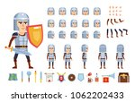 medieval knight creation kit.... | Shutterstock .eps vector #1062202433