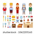 set of medieval characters and... | Shutterstock .eps vector #1062205163