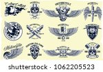 vector set of classic... | Shutterstock .eps vector #1062205523