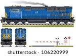 diesel locomotive  train  5 .... | Shutterstock .eps vector #106220999