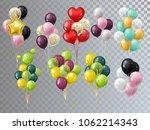 vector 3d realistic bunch... | Shutterstock .eps vector #1062214343