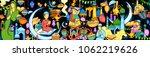 illustration of eid mubarak ... | Shutterstock .eps vector #1062219626