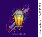 illustration of ramadan kareem  ... | Shutterstock .eps vector #1062219629