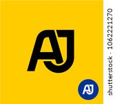 aj letters logo. a and j two... | Shutterstock .eps vector #1062221270