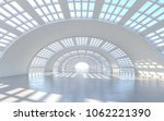 illuminated corridor interior...   Shutterstock . vector #1062221390