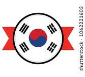 south korea flag in glossy...   Shutterstock .eps vector #1062221603