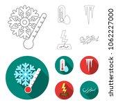humidity  icicles  thunderbolt  ...   Shutterstock .eps vector #1062227000