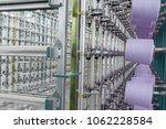 textile yarn on the warping... | Shutterstock . vector #1062228584