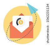 email marketing flat... | Shutterstock .eps vector #1062231134