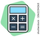 calculator flat vector icon | Shutterstock .eps vector #1062234263