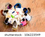 study group with young people... | Shutterstock . vector #106223549