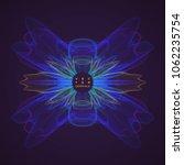 colorful noisy circular... | Shutterstock .eps vector #1062235754