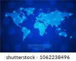 world map from lines point... | Shutterstock .eps vector #1062238496