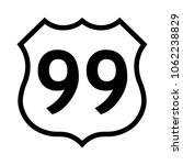 us route 99 sign  black and... | Shutterstock .eps vector #1062238829