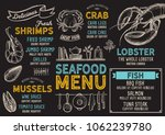 Seafood Restaurant Menu. Vecto...