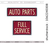 auto parts. full service. 3d... | Shutterstock .eps vector #1062240308