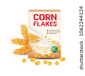 corn flakes   cereal product... | Shutterstock .eps vector #1062244124
