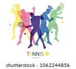 abstract tennis player design | Shutterstock .eps vector #1062244856