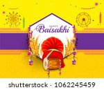 illustration of happy baisakhi... | Shutterstock .eps vector #1062245459