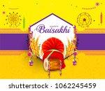 illustration of happy baisakhi... | Shutterstock .eps vector #1062245459