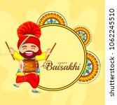 illustration of happy baisakhi... | Shutterstock .eps vector #1062245510