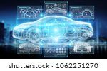 modern digital smart car... | Shutterstock . vector #1062251270