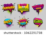 back to school summer best pop... | Shutterstock .eps vector #1062251738