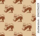 seamless geometrical monochrome ... | Shutterstock .eps vector #1062256229