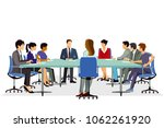 meeting conference  discussion  ... | Shutterstock . vector #1062261920