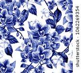beautiful watercolor pattern... | Shutterstock . vector #1062269354